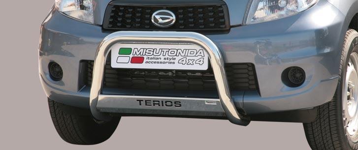 Daihatsu Terios CX/Overfender/SX (2009-) – Misutonida 4×4 Godkjent Kufanger-Frontbøyler m/Logo