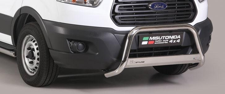 Ford Transit (2014-) – Misutonida 4x4 Godkjent Kufanger-Frontbøyler m/Logo