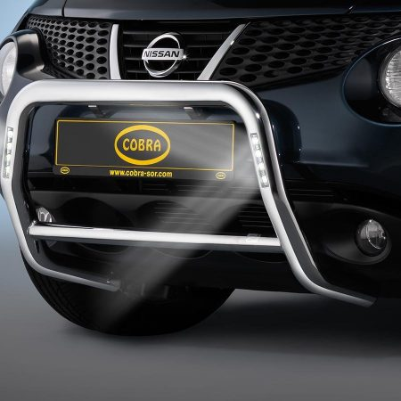 Nissan Juke (2010-) – Cobra-Sor Godkjent Kufanger-Frontbøyler m/LED