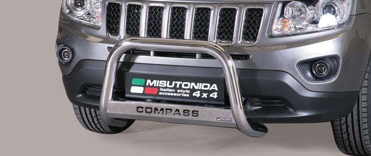 Jeep Compass (2011-) – Misutonida 4x4 Godkjent Kufanger-Frontbøyler m/Logo