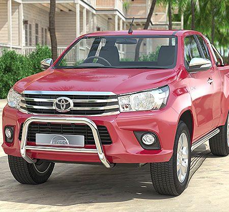 Toyota Hilux (2016-) – Antec Godkjent Frontbøyle-Lysbøyle m/tverrør