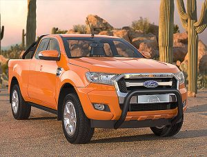 Ford Ranger (2016-) – Antec Godkjent Kufanger-Frontbøyle m/tverrør