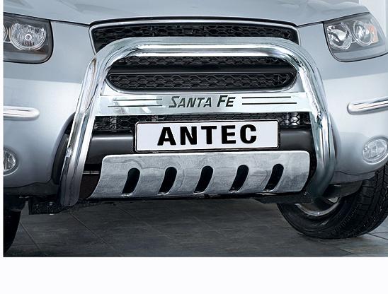 Hyundai Santa Fe (2006-) – Antec Godkjent Frontbøyle/Lysbøyle m/tverrprofil