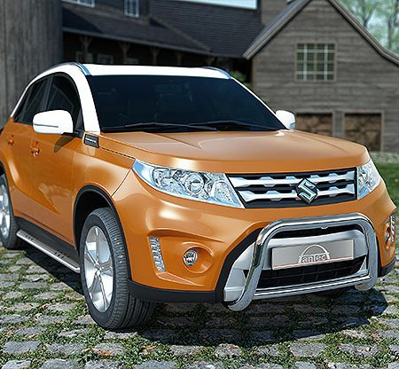 Suzuki Vitara (2015-) – Antec Godkjent Frontbøyle/Lysbøyle m/tverrør