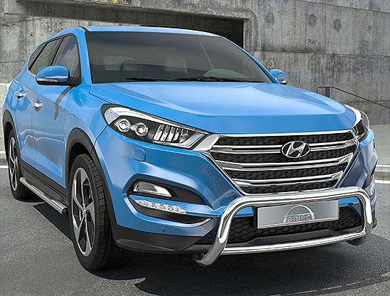 Hyundai Tucson (2015-) – Antec Godkjent Frontbøyle/Lysbøyle m/tverrør
