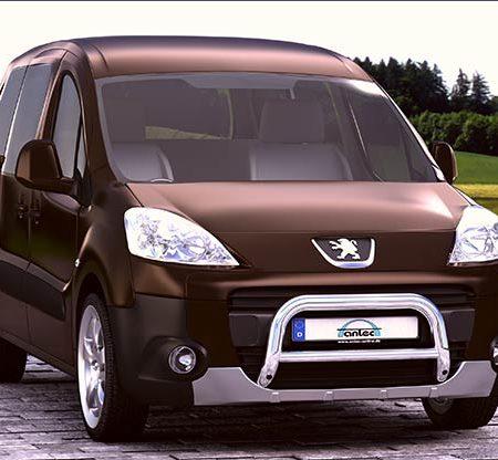 Peugeot Partner+Tepee (2012-) – Antec Godkjent Frontbøyle/Lysbøyle m/tverrør