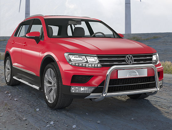 Volkswagen Tiguan (2016-) – Antec Godkjent Frontbøyle-Lysbøyle m/tverrør