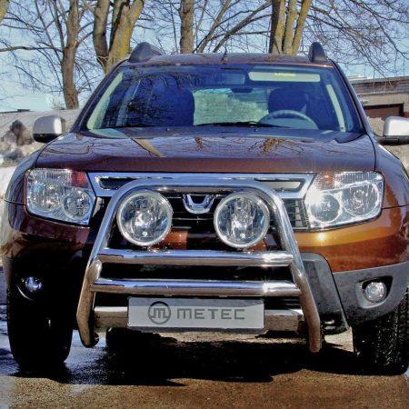 Dacia Duster (2010-) – Metec Godkjent Frontbøyle høy m/dobbelt tverrør