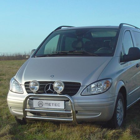 Mercedes-Benz Vito (2003-) – Metec 4x4 Godkjent Frontbøyle-Lysbøyle m/tverrør