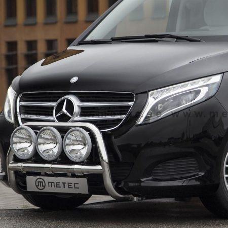 Mercedes-Benz V-Klasse (2014-) – Metec 4x4 Frontbøyle-Lysbøyle m/tverrør