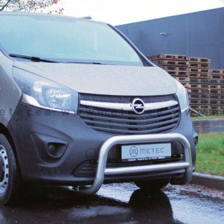 Nissan Vivaro (2014-) – Metec 4x4 Godkjent Frontbøyle-Lysbøyle m/tverrør