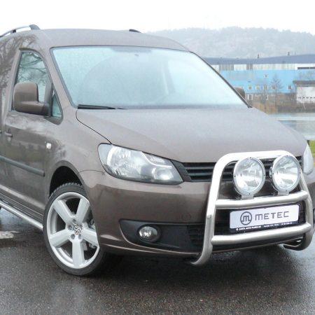 Volkswagen Caddy (2010-) – Metec 4x4 Frontbøyle-Lysbøyle m/tverrør
